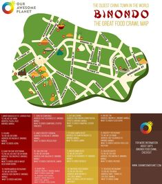 BINONDO: 15 Places to Try on your Next Binondo Food Crawl! • Our Awesome Planet Phillipines Travel, Pork Sisig, Philippine Map, Pork Floss, Lechon Kawali, Chinese Sausage, Food Map, Fried Beef, Beef And Noodles