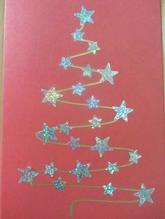 9 More Easy Homemade Christmas Cards with Step by Step Instructions – DIY Fan Diy Christmas Cards, Christmas Crafts For Kids, Christmas Projects, Kids Christmas, Handmade Christmas, Holiday Crafts, Christmas Decorations, Christmas Ornaments, Childrens Homemade Christmas Cards