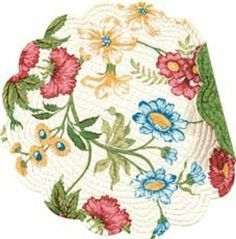 """Set of 4 PCS Quilted,17"""" Round Placemats, Pembroke by C $39.59. Save 33% Off!"""
