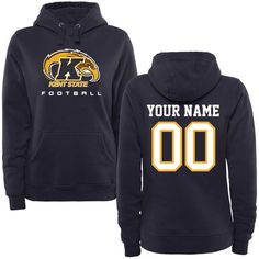 Kent State Golden Flashes Women's Personalized Football Pullover Hoodie - Navy - $69.99