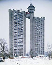 Brutalist architecture - Western City Gate, Belgrade, Serbia, 1980 #brutalism #architecture