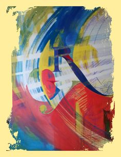 Abstract - Mixed media on canvas 92 x 60