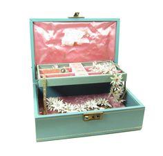 Mele Jewelry Box Vintage Teal Blue With By BrownEyedRoseVintage 2000