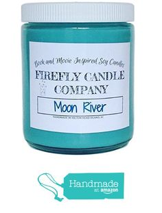 Moon River Soy Candle- Breakfast at Tiffany's Inspired Candle 8oz from Firefly Candle Co. https://www.amazon.com/dp/B01F468PEM/ref=hnd_sw_r_pi_dp_9pVwyb5M2WPG3 #handmadeatamazon