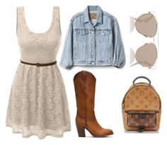 """#1"" by stowies74 on Polyvore featuring LE3NO, Frye, Gap, Christian Dior and Louis Vuitton"