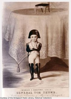 General Tom Thumb as Napoleon Bonaparte.