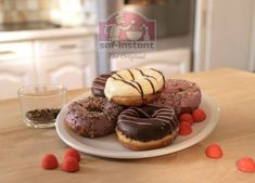 Recette de donut facile: saf-instant Cookies, Cheesecake, Muffin, Colorants, Breakfast, Desserts, Biscuits, Food, Tv