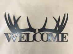 Deer welcome sign by SCHROCKMETALFX on Etsy