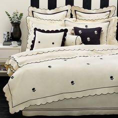 kate spade black & white bedding