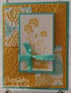 Stampin' Up Serene Silhouettes #diy #cardmaking #stampinup                                 2 LAYER EMBOSSING, LIKE LOOK. REW