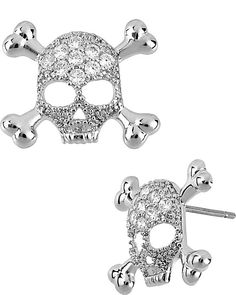 CRYSTAL SKULL EARRING CRYSTAL accessories jewelry earrings fashion