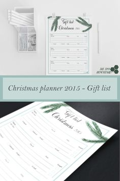 Gift list Printable – Christmas Planner 2015 – The Tiny Honeycomb