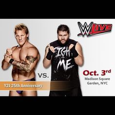 「Oct 3, 2015- #MadisonSquareGarden-  JERICHO vs OWENS!! @fightowensfight  This is the exact 25th Anniversary of my first match....It's going to be an…」