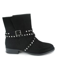 Black Calvin Ankle Boot #zulily #zulilyfinds
