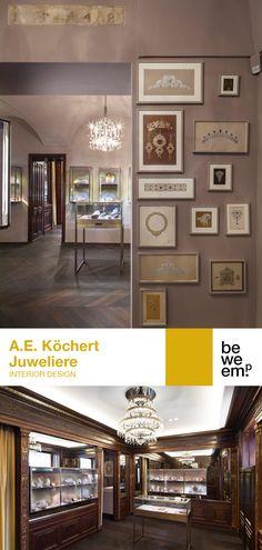 PROJECT_A.E. Köchert Juweliere DEPARTMENT_Interior Design  LOCATION_Vienna  Image: ©Christoph Panzer Location, Vienna, Jewelry Stores, Gallery Wall, Jewels, Traditional, Interior Design, Image, Home Decor