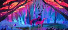 The simple shapes and bold colors in Animals by Juliette Oberndorfer bring a warm glow to winter!  #illustration #art