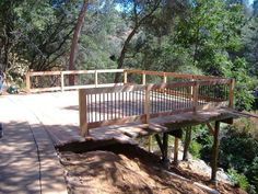 Building a deck on a steep slope.