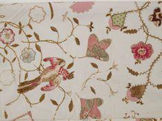 Detail of Martha Bergin's quilt : bird and flower