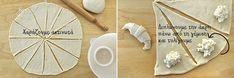 Γλυκά ή αλμυρά κρουασανάκια στο πι και φι – kouzinista Crescent Rolls, Greek Recipes, Finger Foods, Food And Drink, Cooking Recipes, Sweets, Nutella, Recipes, Croissants