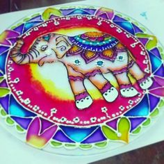 Elefante Hindu - Glasspaint