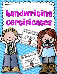 After your students have developed and perfected their handwriting skills, assess their handwriting ability and reward them with a cute certificateThis freebie can accompany my handwriting practice booklet. Click here to see it!Enjoy!LoriIf you like what you see, please follow me:Teaching With Love and LaughterFacebookPinterest