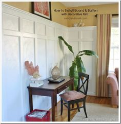 Board and Batten - a great detailed tutorial how to install it with or without decorative trim.