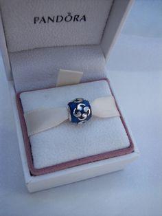 Pandora Blue Zen Enamel Bracelet Charm/Bead FREE by JEWELSELAGANT, $40.00