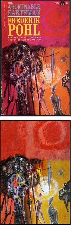 RICHARD M. POWERS - The Abominable Earthman by Frederik Pohl - 1973 Ballantine Books