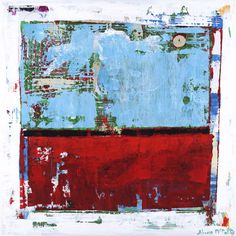 Image detail for -abstract expressionism red blue art painting | Fringe | Shawn McNulty