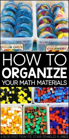 10 ideas to help keep your classroom materials organized and save you TONS of prep time! From storage ideas to guided math center organization, these hacks and tips will have your manipulatives and supplies organized in no time!