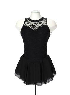 Jerry's Figure Skating Dress 139 - Overlace (Black)