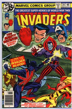 The Invaders - golden age Destroyer with union jack and spitfire - marvel comics. This movie needs to happen :)