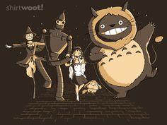 'Studio Ghibli' y 'El Mago de Oz' en una camiseta