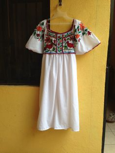 Hand embroidered Mexican dress / dress custom-made Mexican / Mexican clothing on Etsy, $95.12