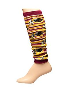 These #Redskins Striped Leg Warmers are a simple way to show off your Redskins spirited when it gets chilly outside!