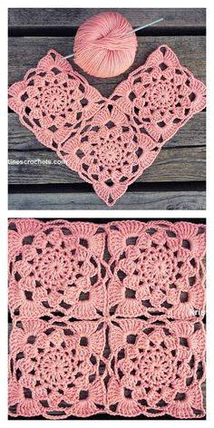 Sunset Flower Square Motif Crochet, Granny Squares Free Crochet Patterns Beautiful romantic squares to create new, brilliant projects. They are pink, light and very feminine. They look great in any shade. I highly recommend this project to everyone. Crochet Motif Patterns, Crochet Blocks, Granny Square Crochet Pattern, Crochet Squares, Crochet Granny, Crochet Designs, Knitting Patterns, Granny Squares, Blanket Crochet