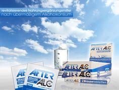 After Alc - Entwicklung einer innovativen Marke im Bereich Healthcare & NEM. Vom Corporate Design, Packaging bis hin zu Salesmaterialien und dem Onlinemarketing. 360-Grad Kommunikation für AFTER ALC.