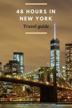 Travel Guide: 48 Hours in New York (USA) for First-Time Visitors #TravelDestinationsUsaNortheast