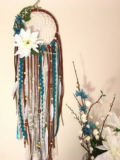 I would like to make a dream catcher or wall hanging. I like the darker colors here, but don't want mine to look too crafty....more artsy boho