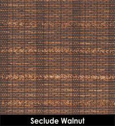 Seclude Walnut woven wood fabric for custom roman shade in top down/ bottom up style for living room