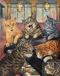 Martine Coppens – present, Belgian) at The Great Cat I Love Cats, Crazy Cats, Cool Cats, Les Moomins, Cats Musical, Cat Cards, Cat People, Cat Drawing, Beautiful Cats