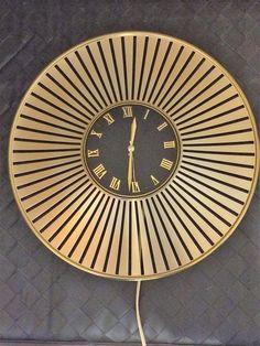 Stunning Vintage 60s Junghans Starburst Wall Clock Retro