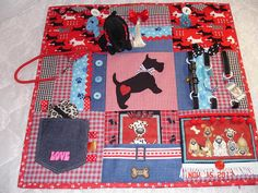 Westie Scottie Dog Dogs Fidget Activity Tactile Sensory Wheelchair Quilt Blanket for Alzheimers dementia anxiety brain trauma pt Quilting Projects, Sewing Projects, Nursing Home Gifts, Alzheimers Activities, Sensory Blanket, Fidget Blankets, Fidget Quilt, Sensory Activities, Tela