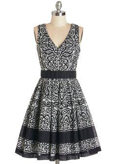 Swirl-Go-Round Dress in Black.