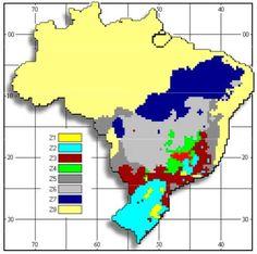 Zoneamento Bioclimático Brasileiro. Saiba sobre as Zonas Bioclimáticas e a distribuição das cidades em: http://bioclimatismo.com.br/zoneamento-bioclimatico-brasileiro