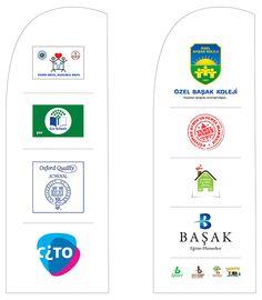 başak koleji kurumsal kimlik tasarımı kapsamında yapılan bayrak tasarımı.