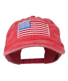 28a44620089e5 American Flag Embroidered Washed Cap Red CH11MJ3NIEX