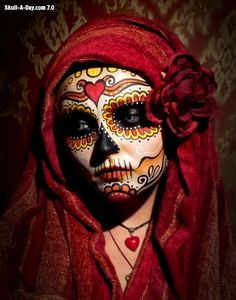 Sugar Skull - Dia De Los Muertos/Day Of The Dead Makeup Inspiration Sugar Skull Makeup, Sugar Skull Art, Sugar Skulls, Halloween Makeup Sugar Skull, Maquillaje Sugar Skull, Skeleton Body, Skeleton Makeup, Looks Halloween, Halloween Stuff