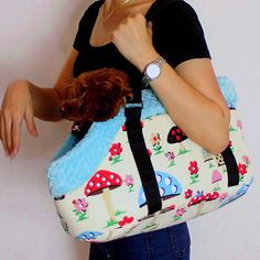 Free Shipping Dog Puppy Travel Carrying Bag Breathable Pet Carrier Warm Plush Shoulder Bag Size S-L