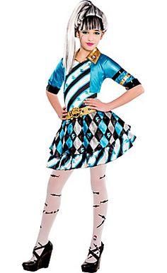 Girls Monster High Frankie Stein Costume